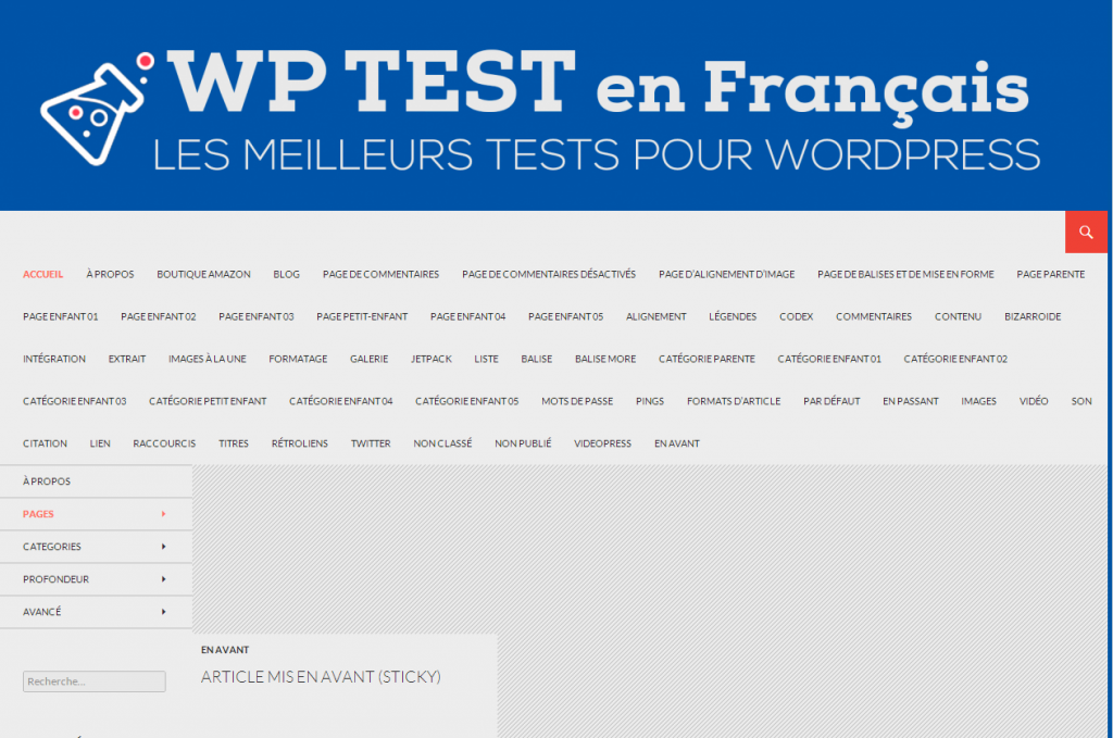 WP Test en français