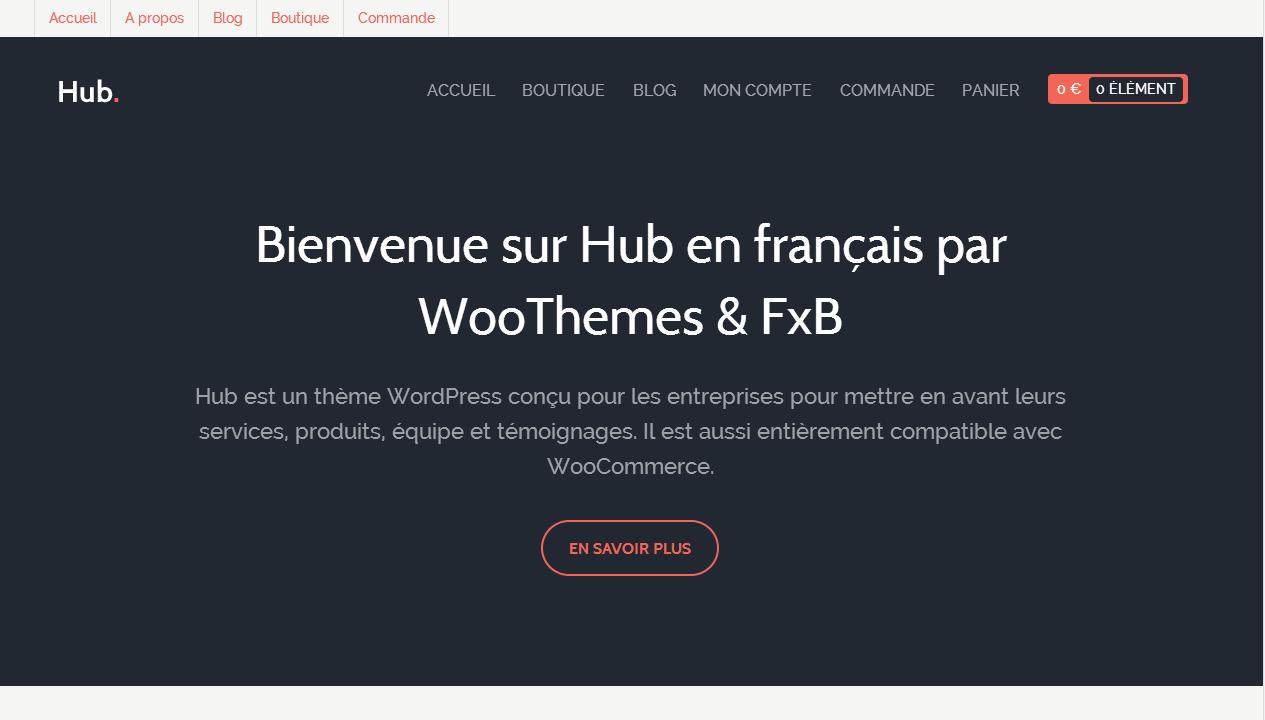 Hub par WooThemes [traduction française]