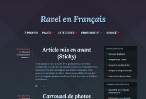 Ravel en Français