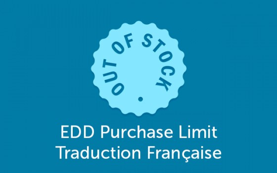 EDD Purchase Limit Traduction Française