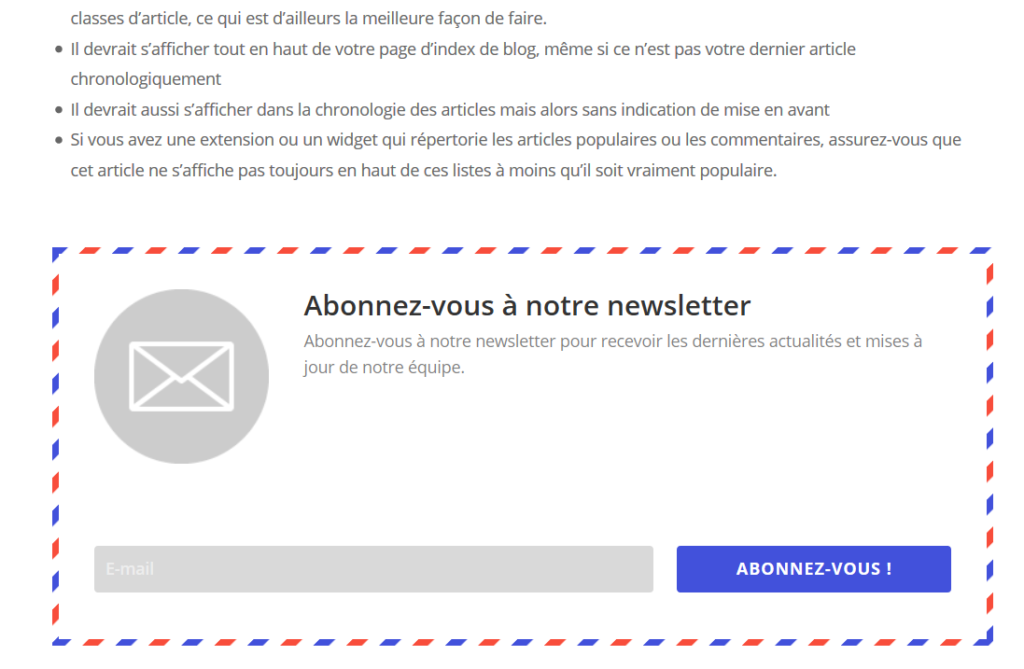 Bloom French Opt-in après contenu