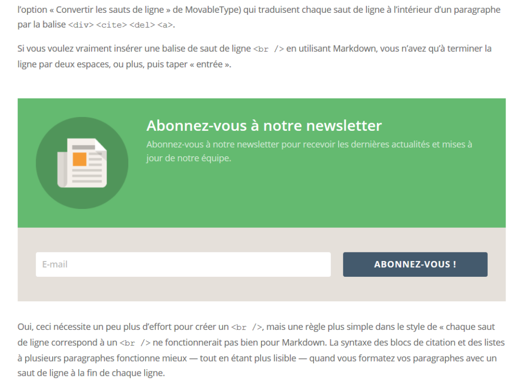 Bloom French Opt-in intégré
