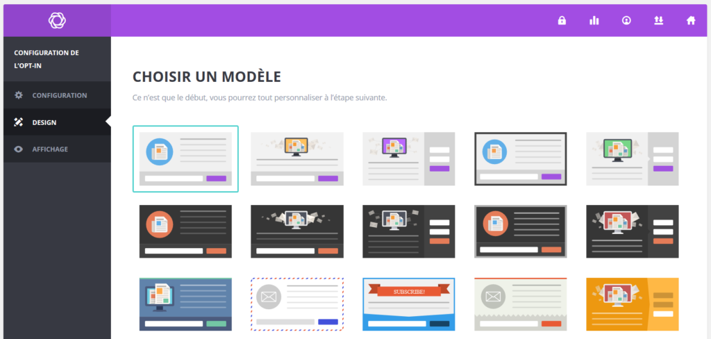 Bloom French Opt-in-design